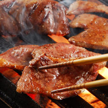 Grilled beef tongue with miso