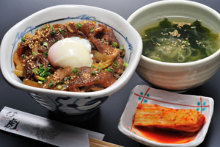 Stewed tendon rice bowl lunch set
