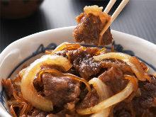 Beef rice bowl set meal