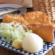 Thin slice deep-fried tofu