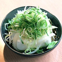 Chilled tofu with minced green onions