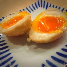 Soft boiled egg tempura