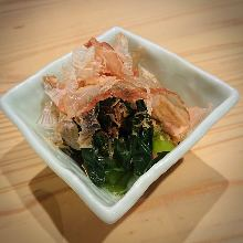 Simmered Japanese mustard spinach