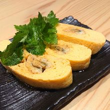 Japanese-style rolled omelet of the day