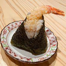 Chicken tempura rice ball