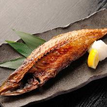 Charcoal-grilled mackerel set meal