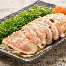 Seared free range chicken