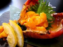 Live sea squirt sashimi