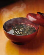 Sea lettuce miso soup