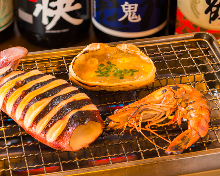 Assorted seafood grill