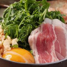 Pork and perilla okonomiyaki