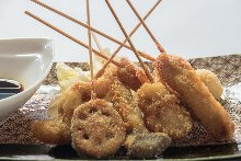 Assorted fried cutlet skewers, 7 kinds