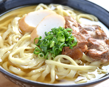 Okinawan noodles with sparerib
