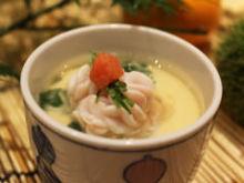 Soft roe chawanmushi (steamed egg custard)