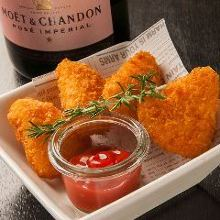 Fried camembert cheese