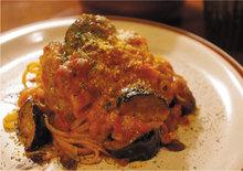 Pasta with eggplant tomato sauce