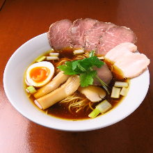 Chinese noodles (Roasted pork,Chicken bone broth)
