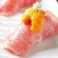 炙り肉握り寿司