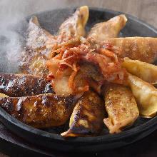 キムチの焼き餃子