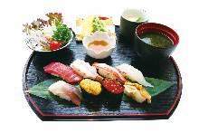 特上寿司ランチ