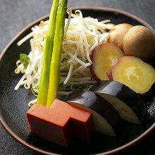 季節の焼き野菜