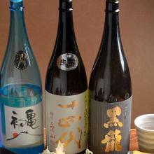 日本酒飲み比べ3種