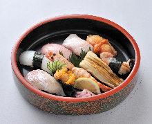 特上にぎり寿司盛り合わせ9種