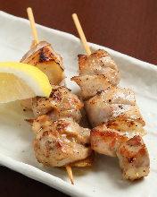 丹波地鶏の串焼き