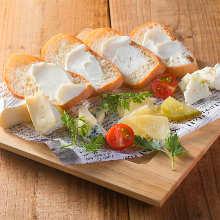 チーズ盛り合わせ4種