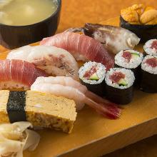 特上握り寿司盛り合わせ