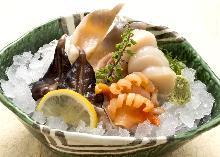貝類の刺身盛り合わせ