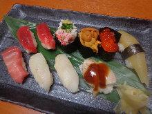 日替わりにぎり寿司盛り合わせ
