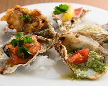 焼き牡蠣盛り合わせ