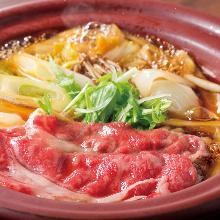 和牛のすき焼き