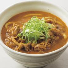 沖縄 琉香豚と季節野菜のカレーうどん
