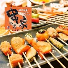 串揚げ・サラダ・デザート食べ放題