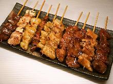 串焼き盛り合わせ10種