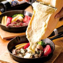 燻製ベーコンと季節野菜の盛り合わせ チーズがけ