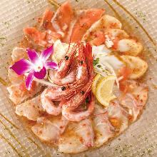 日替わり鮮魚のカルパッチョ盛り合わせ3種