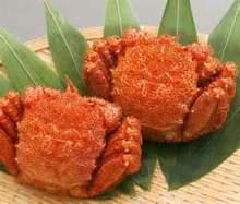 蟹の姿盛り