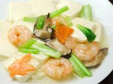 海老と豆腐の塩煮込み