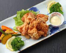 鶏の唐揚げ 明太子味