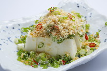 豆腐の干し海老ぶっかけ