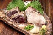 魚のロースト藁焼き2点盛り