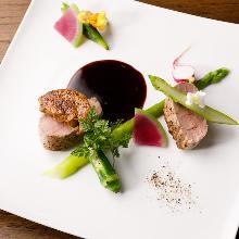 豚ヒレ肉とフォアグラ 赤ワインソース