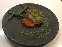 魚の香草パン粉焼き