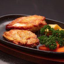 地鶏のグリルステーキ