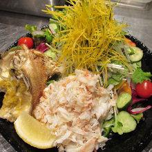 蟹のサラダ