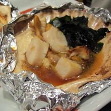 活帆立貝のバター醤油焼き
