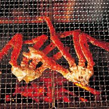 タラバガニの炙り焼き